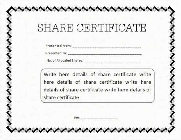 Blank share certificates corporate stock certificates blank share stock certificate template 21 free word pdf format yadclub Gallery