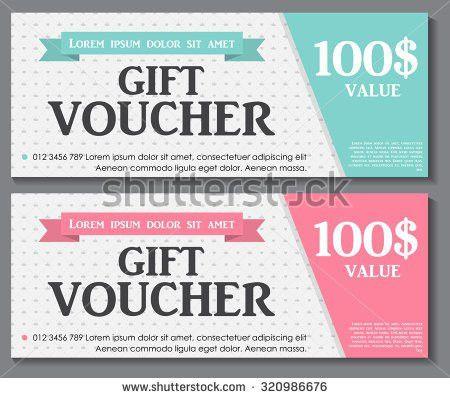 Gift Voucher Template Sample Text Vector Stock Vector 357360818 ...