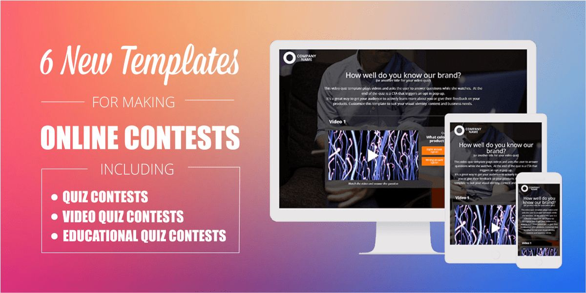 6 New Online Contest Templates | Preview and Customize now!