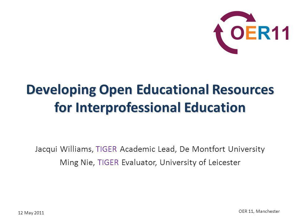 Developing Open Educational Resources for Interprofessional ...
