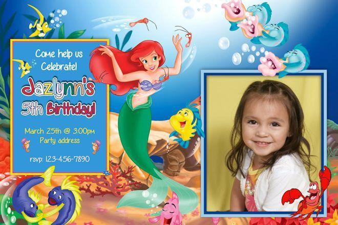 Little Mermaid Birthday Party Invitations | DolanPedia Invitations ...