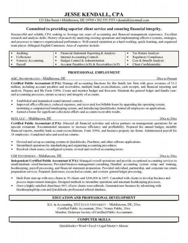 Cpa Candidate Resume – Resume Examples