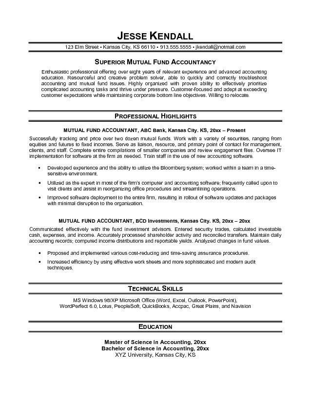Download Accounting Resume Objective | haadyaooverbayresort.com