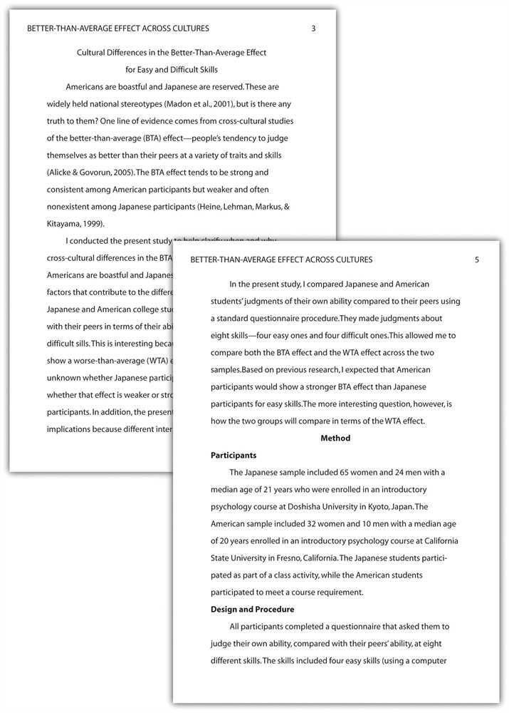 Sample APA Paper, Abstract Page