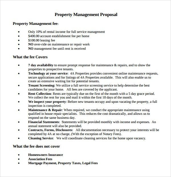 Superior Sample Property Management Proposal Template   9+ Free Documents .