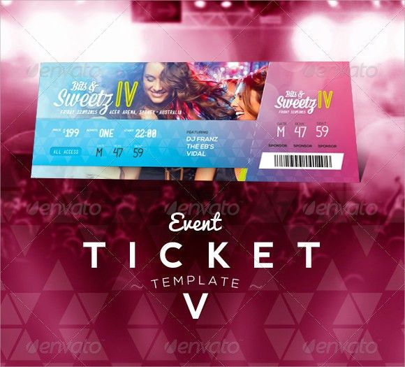 Event Ticket Template - 7+ Premium and Free Download for PDF , Word