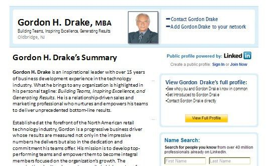 LinkedIn Profile Summary Sample for Resume Portfolio Package