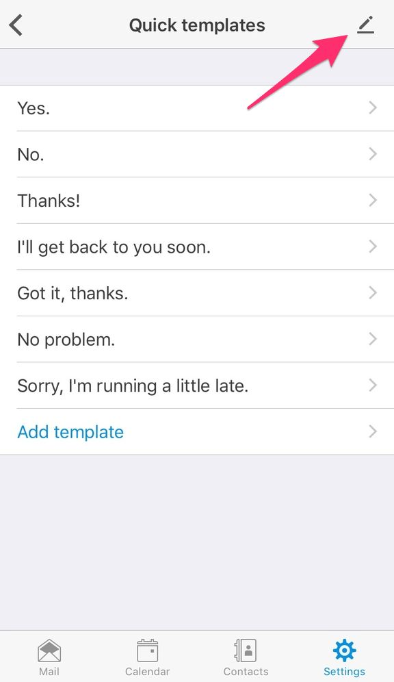 Change the order of the quick response templates - iOS – Customer ...