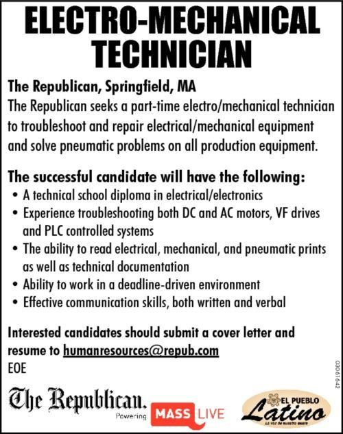 Electro Mechanical Technician Cover Letter - Cover Letter Templates