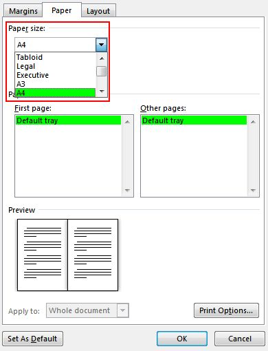 Create a booklet or book - Word