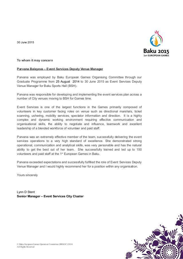 EVS Staff Reference Letter - Parvana
