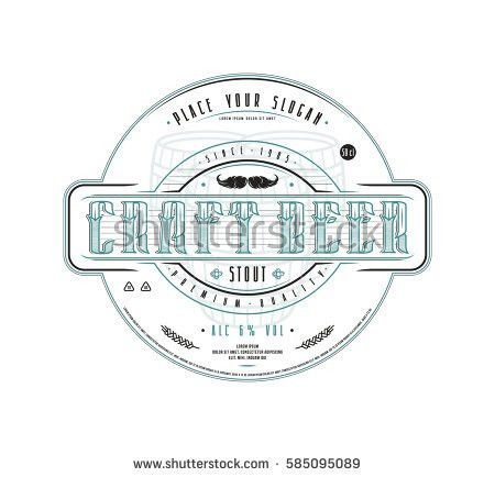 Craft Beer Label Template Vintage Style Stock Vector 588008009 ...