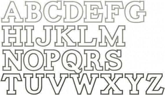 Items similar to Alphabet Applique Embroidery Font Instant ...