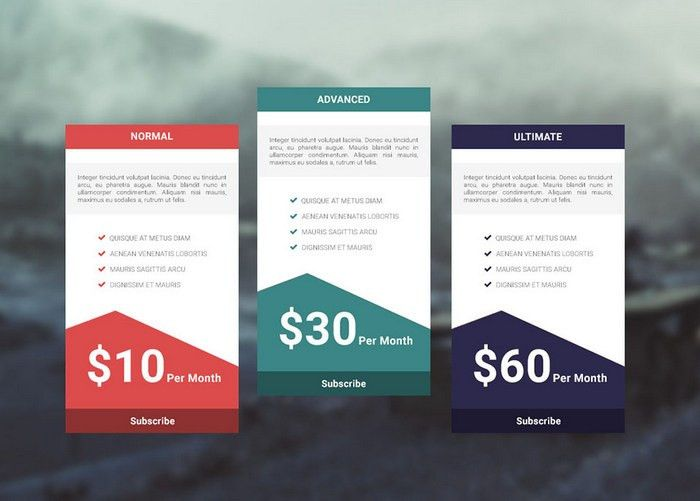 35+ Free Photoshop PSD Price Templates for Pricing Tables, Services