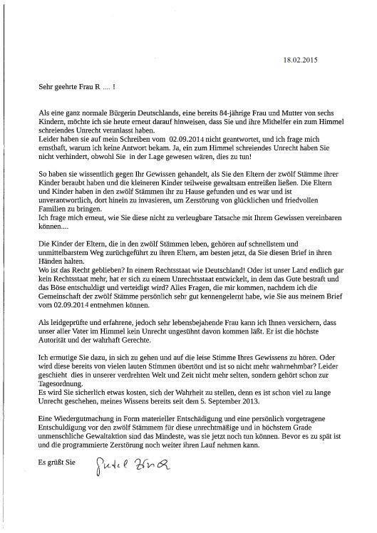 Judge Frau Roser | news.twelvetribes.org