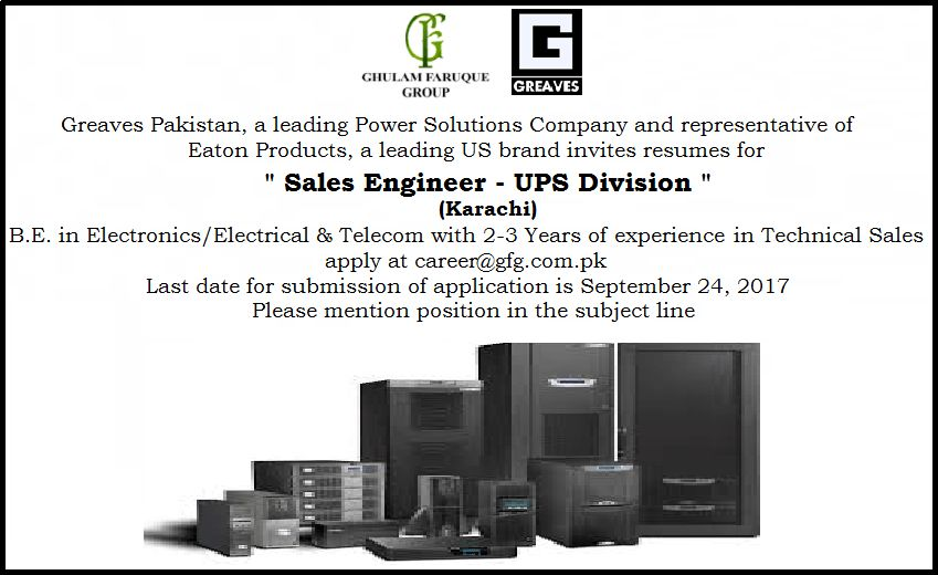 Ghulam Faruque Group of Companies Jobs Sept 2017
