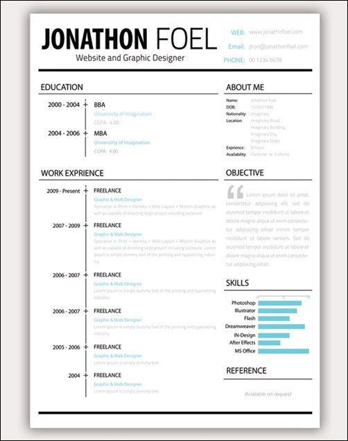 amazing resume template download 35 free creative resume cv