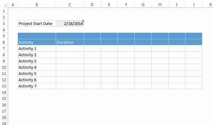 Quick and easy Gantt chart using Excel [templates] | Chandoo.org ...