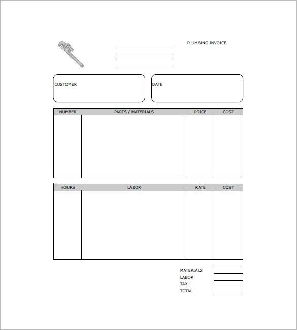 Plumbing Invoice Template – 8+ Free Word, Excel, PDF Format ...
