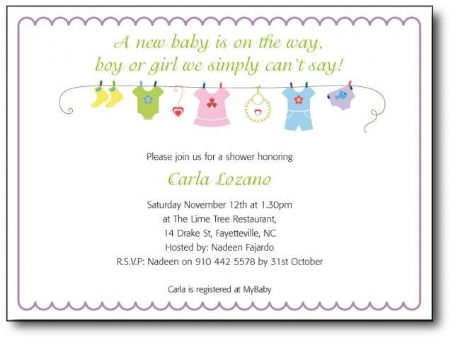 Wording For Baby Shower Invitations Template | Best Template ...