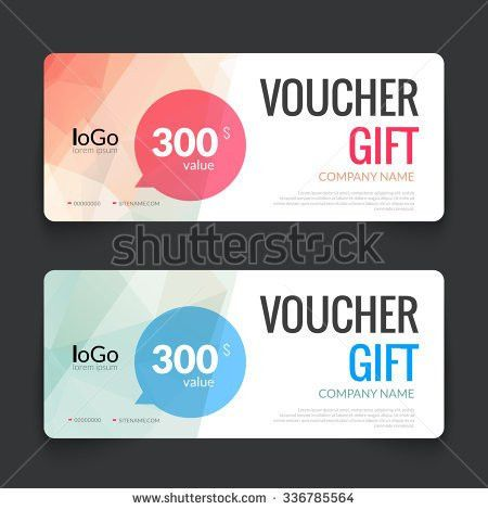 Gift Voucher Market Template Colorful Modern Stock Vector ...