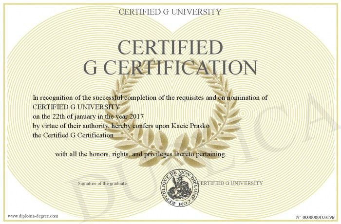 Certified-G-Certification