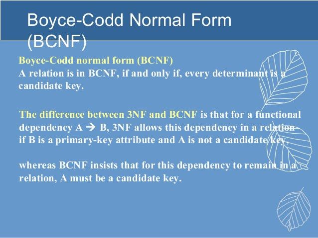 Bcnf Example] 1nf 2nf 3nf And Bcnf In Database Normalization Dbms ...