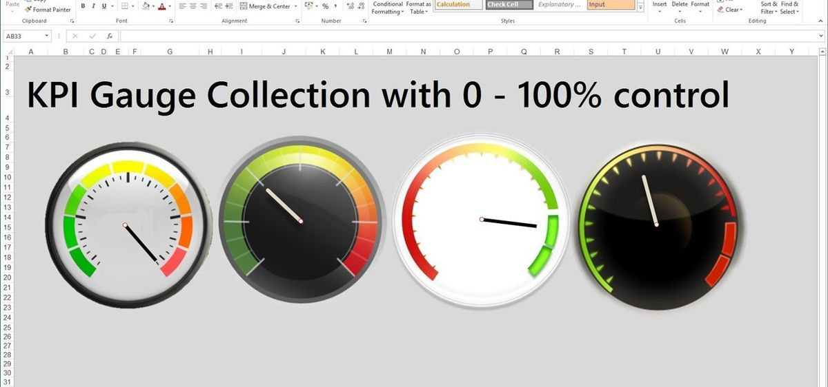 How to Create Excel KPI Gauge Dashboard Templates « Microsoft ...