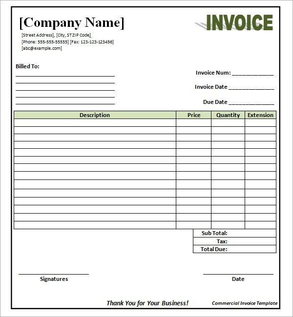 Best Photos of Invoice Template Word Document - Invoice Template ...
