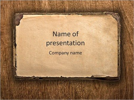 Manuscript - PowerPoint Template - SmileTemplates.com