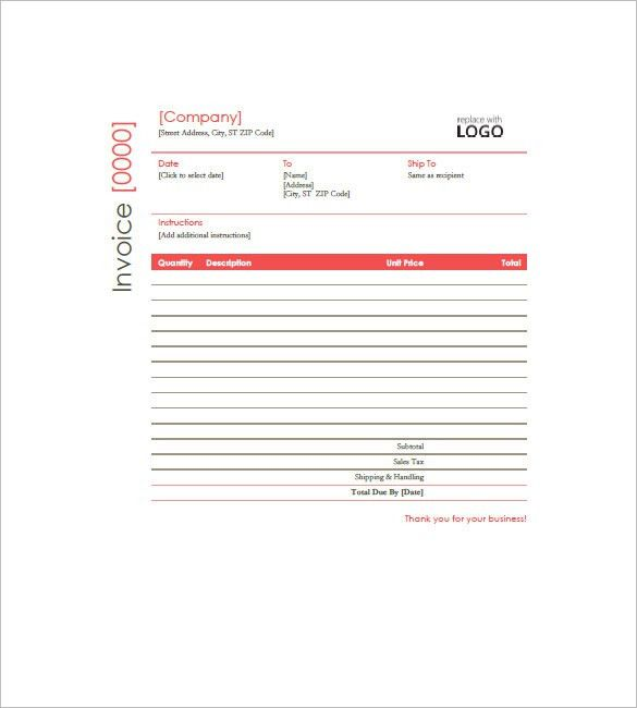 Construction Invoice Template – 8+ Free Word, Excel, PDF Format ...