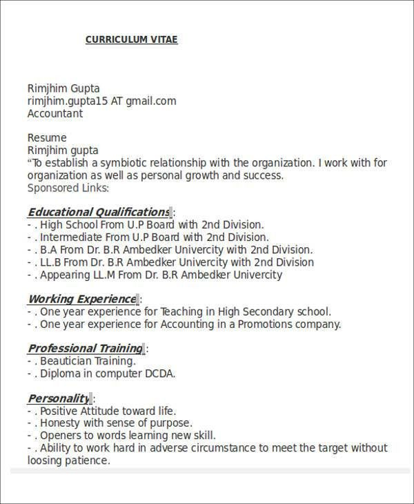 26+ Accountant Resume Format