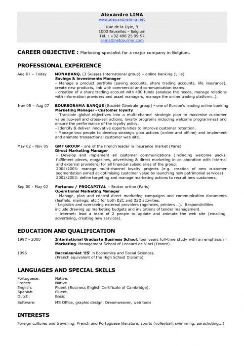 objective for manager resume