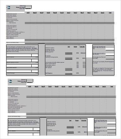 Small Business Budget Template - 9+ Free Word, Excel, PDF ...
