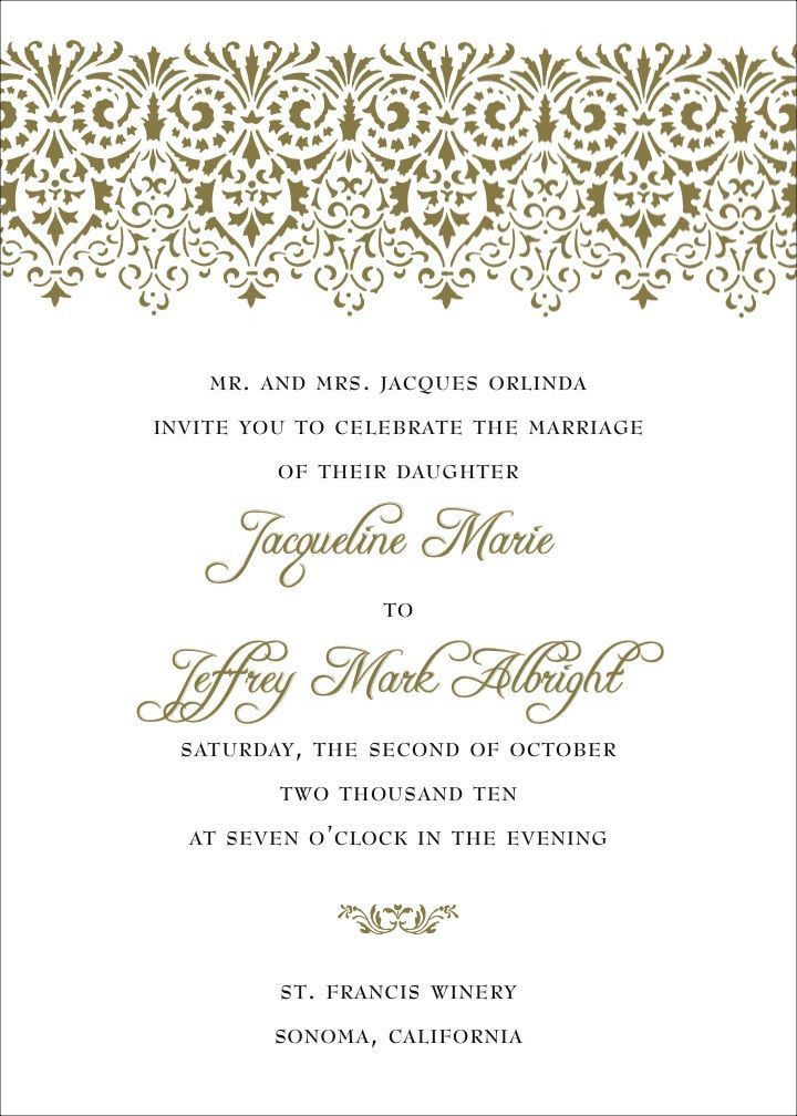 35 best Wedding invitation wording` images on Pinterest ...