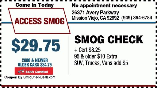$29.75 STAR Smog Check with Smog Check Coupons