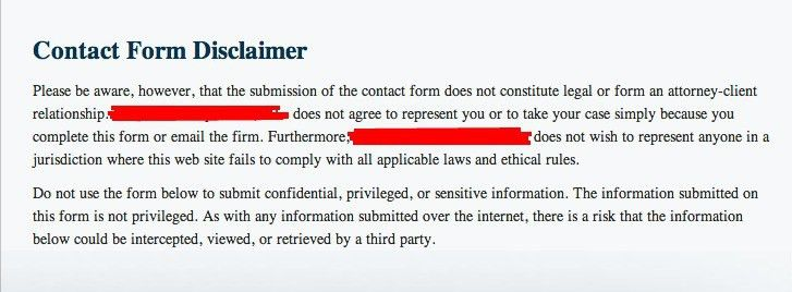 Is Your Law Website's Contact Form and Disclaimer Correct? - NiftyLaw