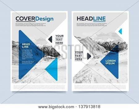Blue Brochure Design. Creative Vector & Photo | Bigstock