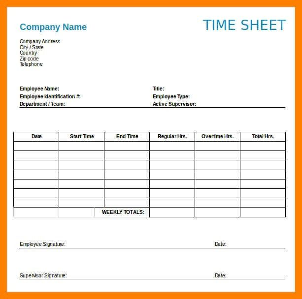 Weekly Timesheet Template Free. timesheet template library weekly ...