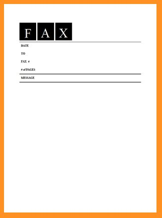 6+ blank fax cover sheet | cook resume