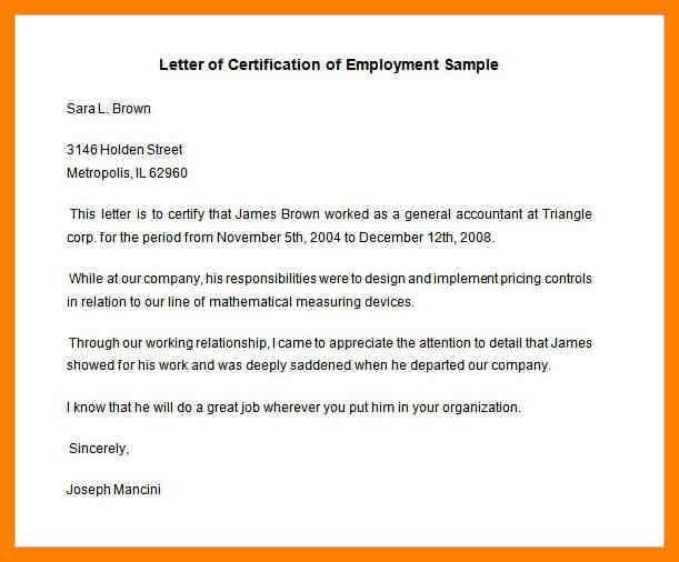 Sample Employment. Employment Reference Letters Template 8+ ...