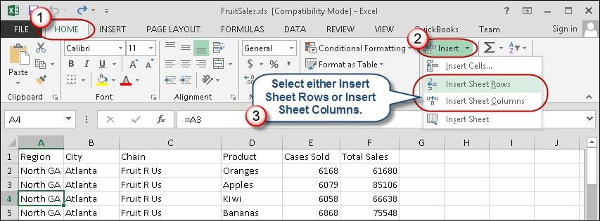 Quick Tips for Inserting Excel Rows and Columns | AccountingWEB