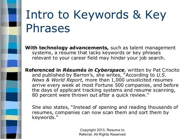 keywords on resumes. key phrases for resumes. cv positive words ...