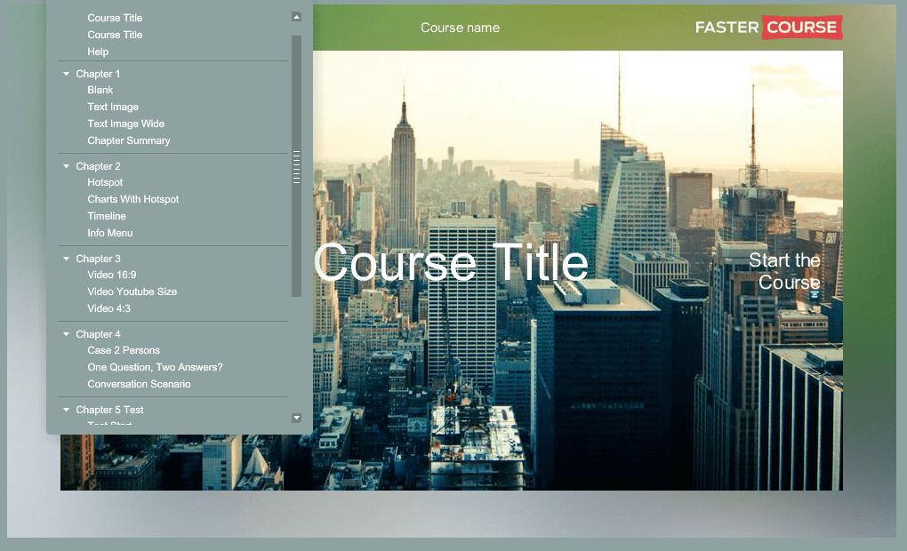 Storyline Template Guide E-learning templates-FasterCourse