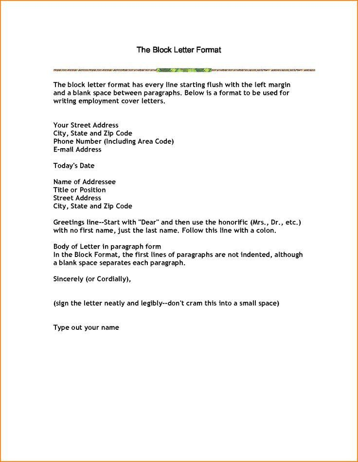 business letter block format example with modified style open ...