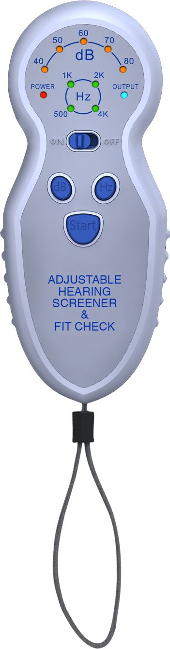 Adjustable Hearing Screener and Fit Check