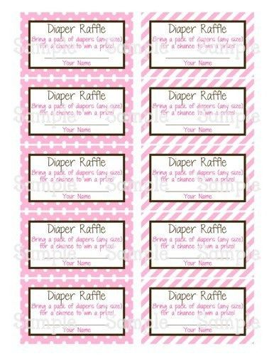 Diaper Raffle Ticket Template | Template Idea