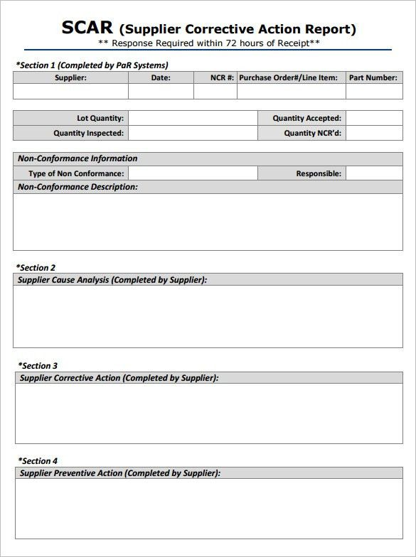 5+ Corrective Action Report Templates – Free Word, PDF Documents ...