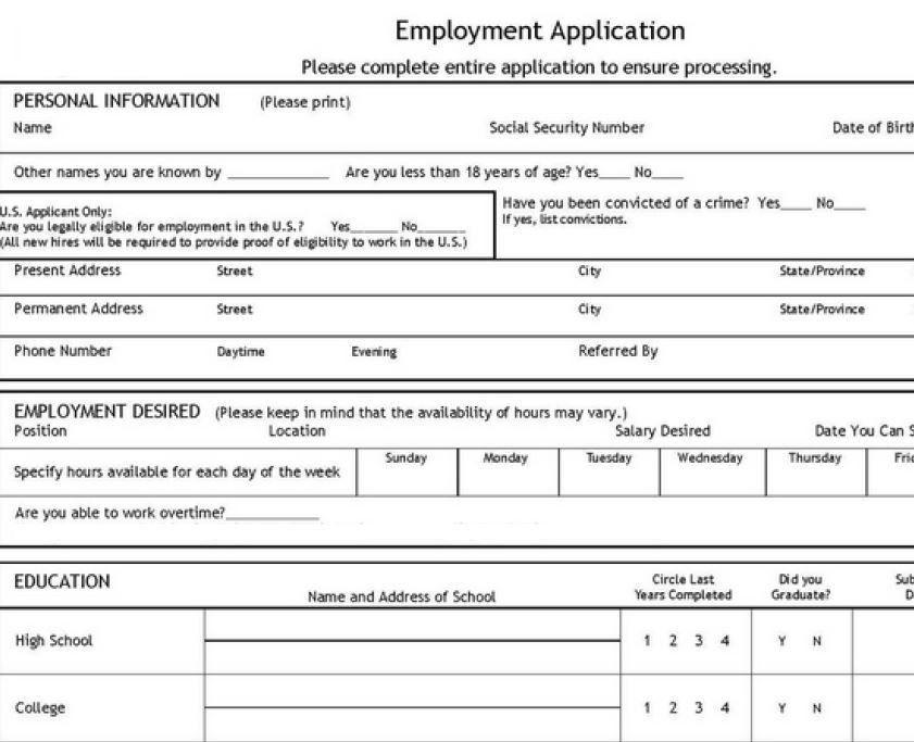 Job Application Template | | jvwithmenow.com
