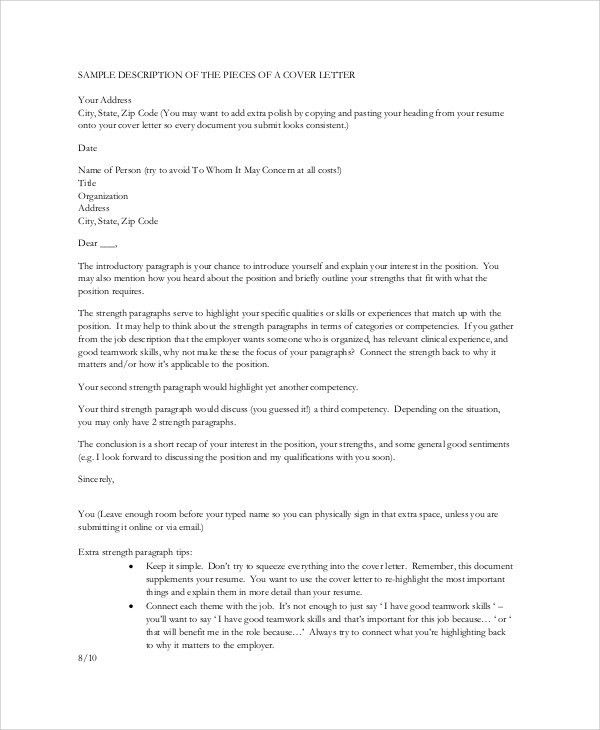 Sample Nursing Cover Letter. Hospital Nursing Cover Letter Example ...